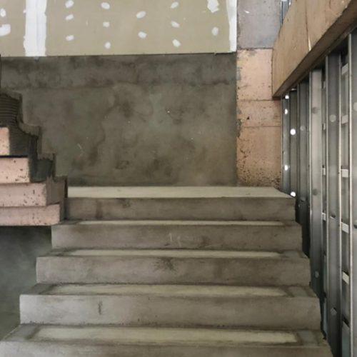 Continuação da instalação das escadas